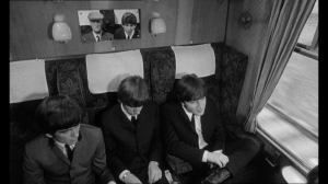 """The music is heard briefly during a scene aboard a train in """"A Hard Day's Night."""""""