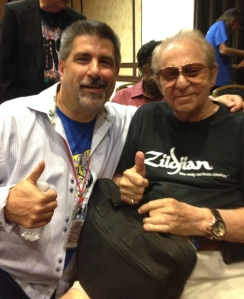 Legendary drummer Hal Blaine (right) with Tom Frangione.