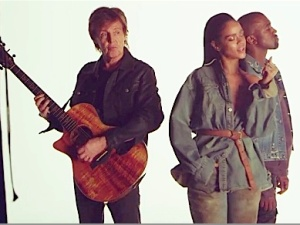 Macca with Rihanna and Kanye West.