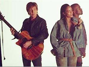 Macca with Rihanna and Kanye West.