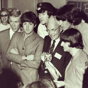 The Beatles with Atlanta Mayor Ivan Allen in August 1965.