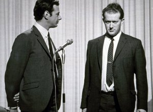 Tony Barrow with Beatles manager Brian Epstein.