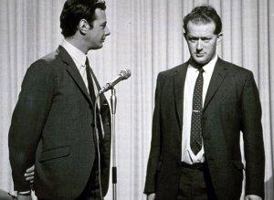Tony Barrow with Beatles manager Brian Epstein.