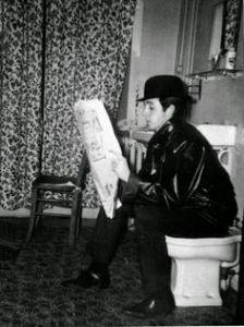 Paul on toilet