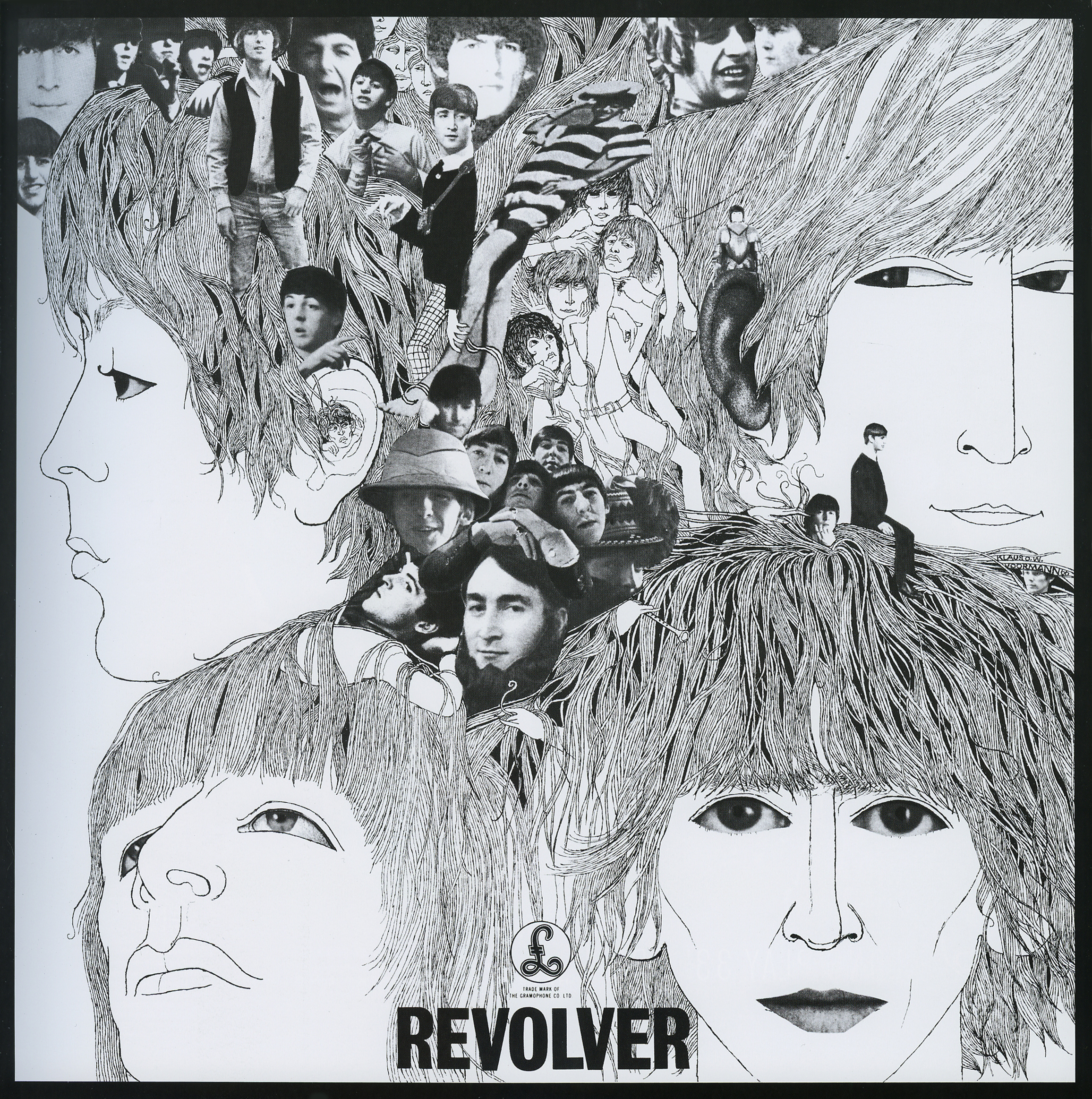 The Beatles Revolver Inside Cover Collage