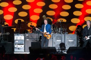 A New York Times shot of McCartney in concert.