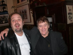 Stormo with the late Sam Leach, an early Beatles promoter in Liverpool.