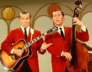 The Smothers Brothers were a new arrival on TV with their weekly comedy hour.
